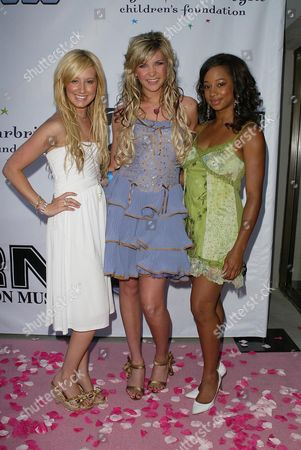 Ashley Tisdale with Kristy Frank and Monique Coleman