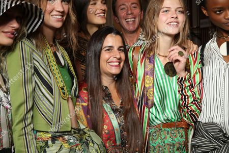 Veronica Etro with models backstage