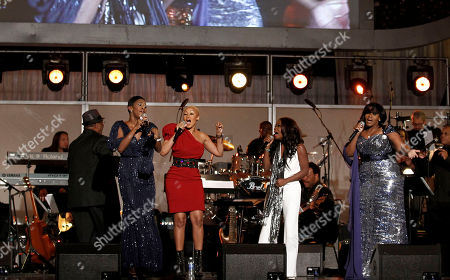 Le'Andria Johnson, Angel Taylor, Kim Burrell, Kelly Price From left, Le'Andria Johnson, Angel Taylor, Kim Burrell, Kelly Price perform during the 54th annual GRAMMY Awards pre-show on in Los Angeles