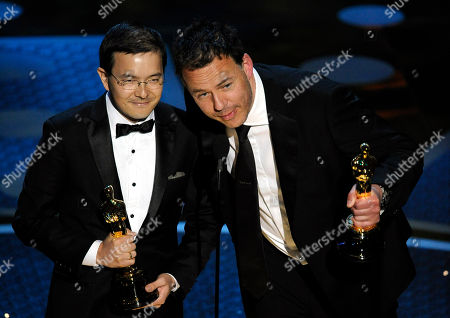 "Shaun Tan, Andrew Ruhemann Shaun Tan, left, and Andrew Ruhemann accept the Oscar for best animated short film for ""The Lost Thing"" at the 83rd Academy Awards, in the Hollywood section of Los Angeles"