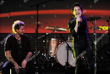 Scott Underwood, Pat Monahan Scott Underwood, left, and Pat Monahan of the band Train perform during the 28th Annual ASCAP Pop Music Awards, in Los Angeles