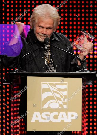 Randy Bachman Songwriter Randy Bachman, recipient of the Global Impact Award, addresses the crowd during the 28th Annual ASCAP Pop Music Awards, in Los Angeles