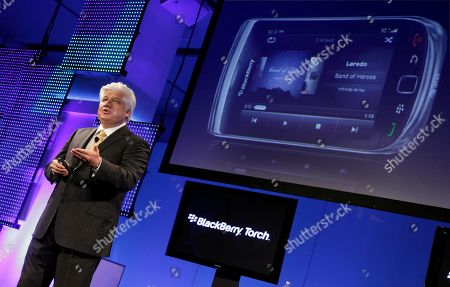Mike Lazaridis, BlackBerry Torch Mike Lazaridis, president and Co-Chief Executive Officer of Research In Motion Ltd., talks about his company's new BlackBerry Torch, in New York