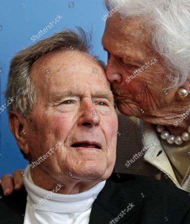 George H.W. Bush, Barbara Bush Former President George H.W. Bush, and his wife former first lady Barbara Bush, arrive for the premiere of HBO's new documentary on his life near the family compound in Kennebunkport, Maine. Former President Bush has been hospitalized for about a week in Houston for treatment of a lingering cough. Bush's chief of staff, Jean Becker, says the 88-year-old former president is being treated for bronchitis at Houston's Methodist Hospital and is expected to be released by the weekend. He was admitted Friday, Nov. 23, 2012