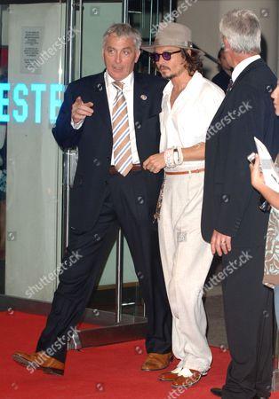 Johnny Depp with minder Jerry Judge