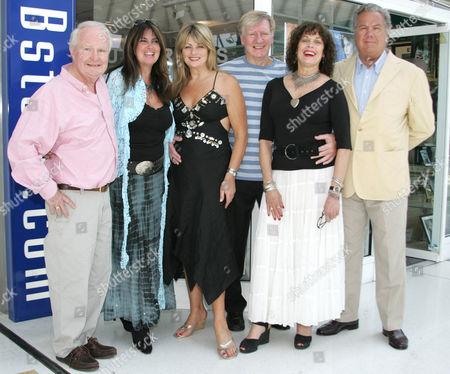 Stock Image of L-R Shame Rimmer, Caroline Munro, Carole Ashby, Joe Robinson, Martine Beswicke, Terry Mountain