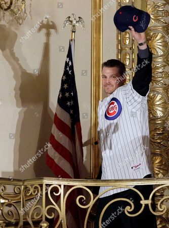 Kerry Wood Chicago Cubs pitcher Kerry Wood waves to fans during player introductions at the 27th Annual Chicago Cubs Convention in Chicago on