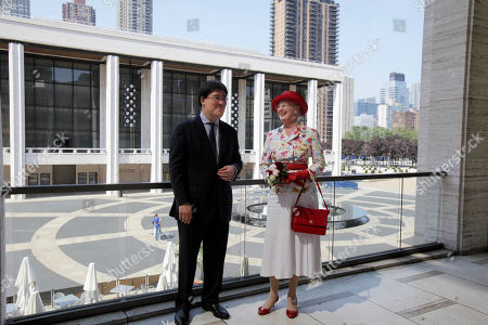 Queen Margrethe II, Alan Gilbert Danish Queen Margrethe II is accompanied by New York Philharmonic Music Director Alan Gilbert during her visit to New York's Lincoln Center