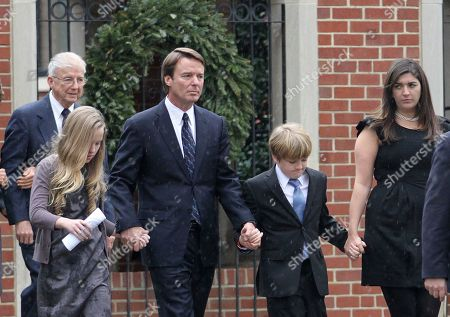 John Edwards Former Democratic presidential candidate John Edwards and his children, Emma Claire, left, Jack and Cate, far right, leave the funeral service for Elizabeth Edwards at Edenton Street United Methodist Church in Raleigh, N.C., . Edwards died Tuesday of cancer at the age of 61