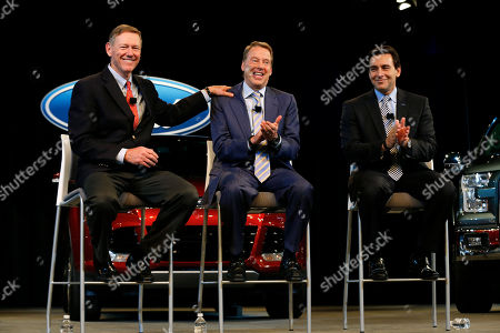 Alan Mulally, Bill Ford Jr., Mark Fields Ford Motor Company President and CEO Alan Mulally, from left, Executive Chairman Bill Ford Jr., and Chief Operating Officer Mark Fields appear during a news conference in Dearborn, Mich., . Ford announced CEO Alan Mulally will retire July 1 and be replaced by Fields