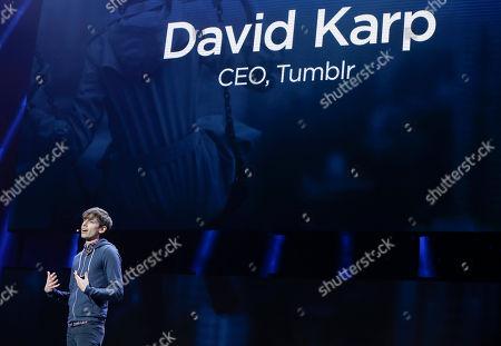 David Karp Tumblr CEO David Karp speaks during a Yahoo presentation at the International Consumer Electronics Show, in Las Vegas