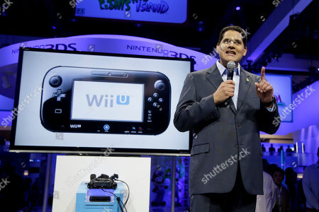 Reggie Fils-Aime Reggie Fils-Aime, President and chief operating officer of Nintendo of America, addresses the media at the Nintendo Wii U software showcase during the E3 game show in Los Angeles