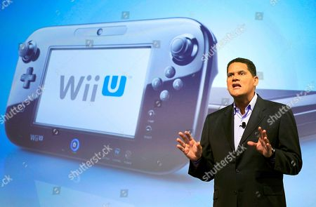 Reggie Fils-Aime In this photo, Reggie Fils-Aime, president and chief operating officer of Nintendo of America, discusses the upcoming Wii U gaming console, in New York. Much like the iPad, the curvey GamePad features a touchscreen that can be manipulated with the simple tap or swipe of a finger, but it's surrounded by the kinds of buttons, bumpers, thumbsticks and triggers that are traditionally found on a modern-day game controller. The gaming console will start at $300 and go on sale in the U.S. on Sunday, Nov. 18, in time for the holidays, the company said