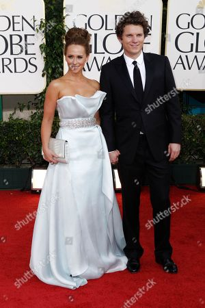 Jennifer Love Hewitt, Alex Beh Jennifer Love Hewitt and Alex Beh arrive for the Golden Globe Awards, in Beverly Hills, Calif