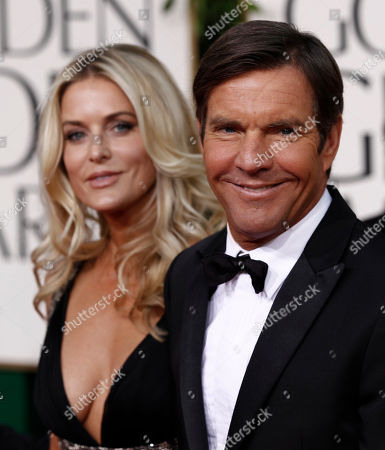 Dennis Quaid, Kimberly Quaid Actor Dennis Quaid with wife Kimberly Quaid arrive at the Golden Globe Awards, in Beverly Hills, Calif