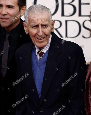 Jack Kevorkian arrives for the Golden Globe Awards, in Beverly Hills, Calif