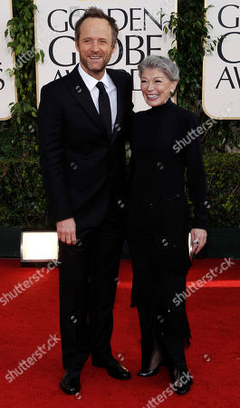 "John Benjamin Hickey and Phyllis Somerville of ""The Big C,"" arrive for the Golden Globe Awards, in Beverly Hills, Calif"