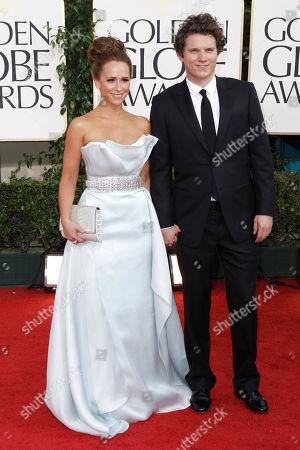 Jennifer Love Hewitt, Alex Beh Jennifer Love Hewitt and Alex Beh arrive at the Golden Globe Awards, in Beverly Hills, Calif
