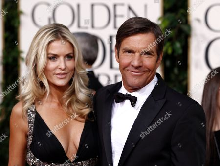 Kimberly Quaid, Dennis Quaid Actor Dennis Quaid and wife Kimberly Quaid arrive for the Golden Globe Awards, in Beverly Hills, Calif