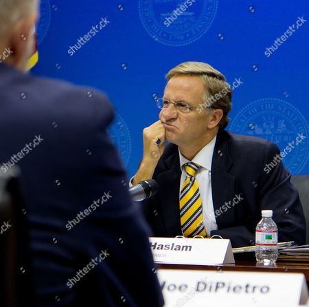 Bill Haslam, Joe DiPietro Gov. Bill Haslam listens to a discussion about tuition hikes during budget hearings with University of Tennessee President Joe DiPietro and other higher education officials at the state Capitol in Nashville, Tenn., on