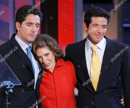 Teresa Heinz Kerry, wife of Democratic presidential candidate Sen. John Kerry, stands with her sons Chris Heinz, left, and Andre Heinz, right, after she addressed delegates during the Democratic National Convention in Boston. Heinz Kerry, 77, plans to step down as chairwoman of the Heinz Endowments in October 2016, according to a plan released by the $1.6 billion foundation, paving the way for her sons Andre Heinz, Chris Heinz and H. John Heinz IV to fill the position in a series of four-year rotations