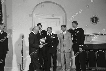 Editorial photo of Ike Honors Trieste Crew 1960, Washington, USA