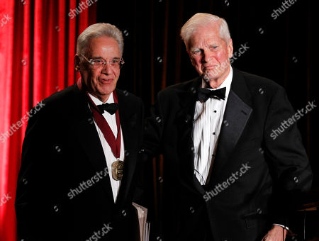 Stock Image of Fernando Henrique Cardoso, James H. Billington Former Brazil President Fernando Henrique Cardoso, left, stands with James H. Billington, the Librarian of Congress, after receiving the Kluge prize for lifetime achievement in the study of humanity during a ceremony at the Library of Congress in Washington