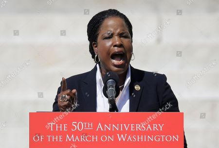 """Roslyn Brock Roslyn Brock, Chairman of the National Board of Directors for the NAACP speaks during an event to commemorate the 50th anniversary of the 1963 March on Washington at the Lincoln Memorial, in Washington. Tens of thousands of people marched to the Martin Luther King Jr. Memorial and down the National Mall on Saturday, to commemorate King's famous """"""""I Have a Dream"""" speech, made Aug. 28, 1963, during the March on Washington, and pledging that his dream includes equality for gays, Latinos, the poor and the disabled"""
