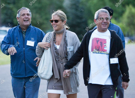 Les Moonves, Ron Meyer, Killy Meyer Les Moonves, President and Chief Executive Officer of CBS Corporation, left, Ron Meyer, President and COO of Universal Studios, right, and his wife Kelly Meyer, arrive at a morning session of the annual Allen & Co. Media Summit in Sun Valley, Idaho