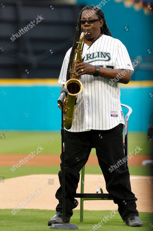 Clarence Clemons Clarence Clemons performs the national anthem before an opening day baseball game between the Florida Marlins and the New York Mets in Miami