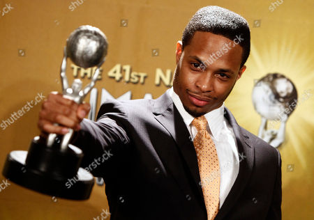 Cornelius Smith Jr Winner of the Outstanding Actor in a Daytime Drama Series for 'All My Children,' actor Cornelius Smith Jr. poses with his award at the 41st NAACP Image Awards, in Los Angeles
