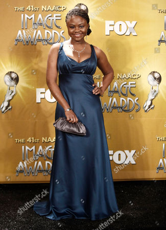 Stock Picture of Hope Olaide Wilson Actress Hope Olaide Wilson poses backstage at the 41st NAACP Image Awards, in Los Angeles
