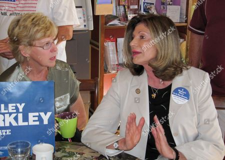 Shelley Berkley Rep. Shelley Berkley, D-Nev., right, campaigns at Comma Coffee in Carson City, Nev. Berkley is running for the U.S. Senate against Republican Sen. Dean Heller. Berkley and Heller are traveling Nevada, touting their positions on Medicare and Social Security in their tight U.S. Senate race. At the coffee house Berkely said the popular social programs were under attack by Heller and the Republican presidential ticket
