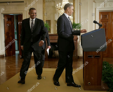 Barack Obama, Anthony Foxx President Barack Obama and Charlotte, N.C., Mayor Anthony Foxx, walk on stage in the East Room of the White House in Washington, where the president announced he would nominate Foxx for the transportation secretary succeeding Ray LaHood