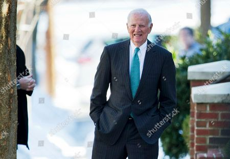 James Baker Former Secretary of State James Baker, stands in front of the house of Vernon Jordan in Washington, after an Alfalfa Luncheon attended by President Barack Obama