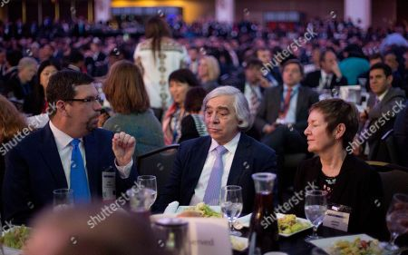Ernest Moniz Energy Secretary Ernest Moniz, center, sits with other guests at the SelectUSA Investment Summit in Washington