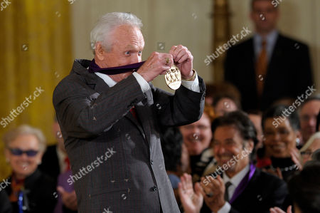 Stock Image of Mel Tillis Country music singer Mel Tillis shows off his 2011 National Medal of Arts during a ceremony in the East Room of the White House in Washington