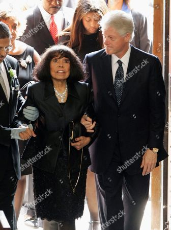 Eunice Johnson, Bill Clinton Former President Bill Clinton escorts Eunice Johnson, widow of Ebony magazine founder John Johnson, center, into the Rockefeller Memorial Chapel in Chicago for her husband's funeral. On, Eunice Johnson died according to the Chicago-based Johnson Publishing Company. She was 93. The cause of death was not immediately available. Eunice Johnson is credited with naming Ebony magazine. Her daughter, Linda Johnson Rice, now heads the publishing company