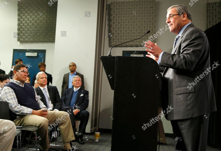 Dave Gettleman, Ron Rivera, Danny Morrison, Jerry Richardson Carolina Panthers' new general manager Dave Gettleman, right, speaks during a news conference for the NFL football team in Charlotte, N.C., as Panthers head coach Ron Rivera, left, team president Danny Morrison, second from left, and owner Jerry Richardson, seated at right, look on