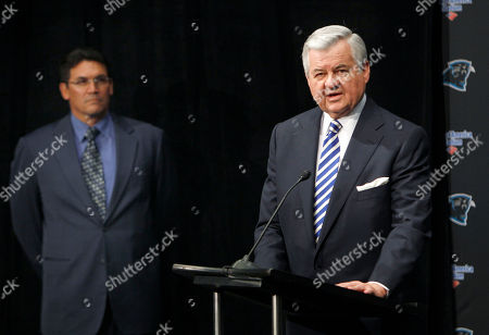 Jerry Richardson, Ron Rivera Carolina Panthers owner Jerry Richardson, right, introduces the team's new coach, Ron Rivera, left, during a news conference in Charlotte, N.C