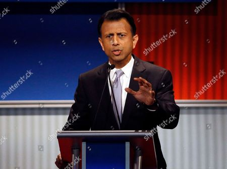 "Bobby Jindal Shows Bobby Jindal speaking during Republican presidential debate at Milwaukee Theatrein Milwaukee. Jindal has told the White House he wants to know how many Syrian refugees have been placed in Louisiana. The letter released Saturday, Nov, 14, 2015, says he wants that and other information ""in hopes that the night of horror in Paris is not duplicated here"
