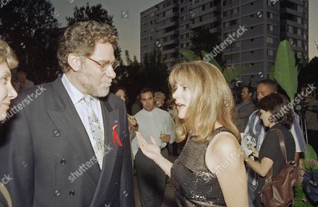 "Patrica Richardson, an Emmy nominee for best actress in a comedy series for her role in ""Home Improvement"" talks with Screen Actors Guild President Richard Masur on at an Emmy Preformer Nominee Reception in the Westwood section of Los Angeles. The Emmy Awards show with Paul Reiser hosting will air on Sunday, Sept. 8, 1996"