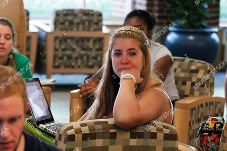Jessica Knoll Penn State freshmen Jessica Knoll, from Lebanon, Pa. listens to the press conference held by Judge Louis Freeh after the release of his report on the Jerry Sandusky child sex abuse scandal on a television in the student HUB on main campus in State College, Pa