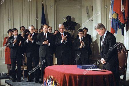 Editorial picture of President Bill Clinton, Washington, USA
