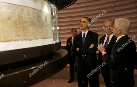 Barack Obama President Barack Obama, third from right, views the Dead Sea Scrolls with Israeli Prime Minister Benjamin Netanyahu, second from right, and Director of the Museum, James Snyder at the Israel Museum in Jerusalem, Israel. This was never happy-ever-after waiting to happen. When Obama and Netanyahu took office early in 2009, there were plenty of reasons to expect their relationship would be difficult. The cerebral president and the brash prime minister have stark differences in personality, politics and world views. Still, few could have predicted the downward spiral of finger-pointing, backbiting, lecturing and outright name-calling that has occurred