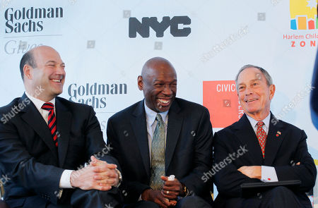 Gary Cohn, Geoffrey Canada, Michael Bloomberg Geoffrey Canada, center, President and CEO of Harlem Children's Zone Promise Academy, shares a laugh with Gary Cohn, left, President and COO of Goldman Sachs, and Mayor Michael Bloomberg, in New York. They participated in the ground breaking ceremony for the academy's new home. Goldman Sachs contributed $20 million towards the school which will serve 1,300 students from kindergarten to 12th grade