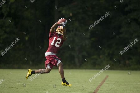 Malcolm Kelly Washington Redskins wide receiver Malcolm Kelly in action during NFL football training camp at Redskins Park on in Ashburn, Va