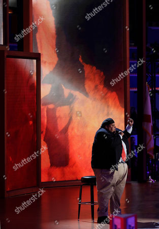 American pop opera singer Neal Boyd performs during the Republican National Convention in Tampa, Fla., on