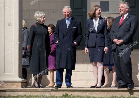 Prince Charles, Terry McAuliffe, Dorothy McAuliffe Britain's Prince Charles, second from left, accompanied by Virginia Gov. Terry McAuliffe, right, and his wife Dorothy McAuliffe, tour George Washington's mansion during a visit to Mount Vernon, the plantation home of George Washington, first President of the U.S, in Mount Vernon, Va