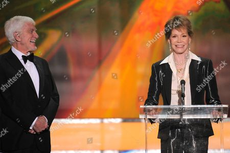 Dick Van Dyke, Mary Tyler Moore Dick Van Dyke, left, presents the Life Achievement award onstage to Mary Tyler Moore at the 18th Annual Screen Actors Guild Awards on in Los Angeles